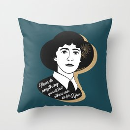 Never Do Anything Yourself - Agatha Christie - Teal Throw Pillow