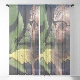 Smart Yorkie Sheer Curtain