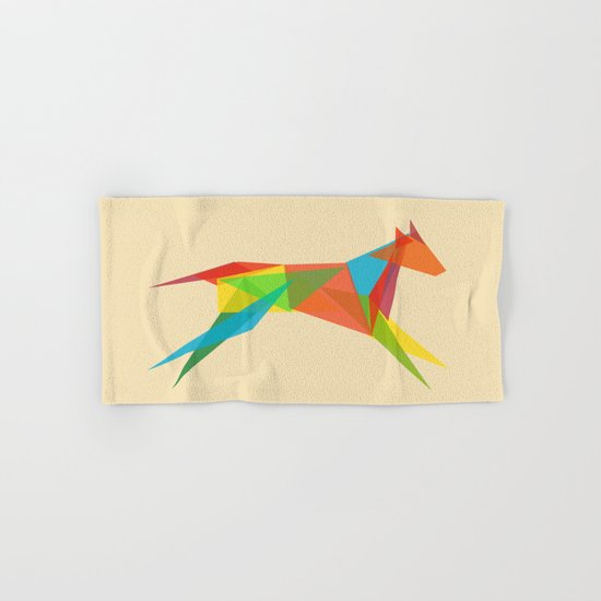 Fractal Geometric Dog Hand & Bath Towel