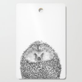 Black and White Hedgehog Cutting Board