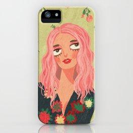 Pink hair girl iPhone Case