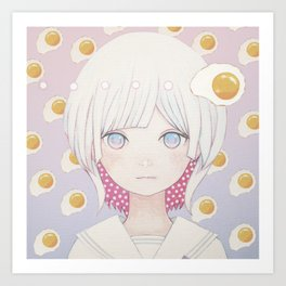 Silence egg-san Tamago fuyashitabaai Art Print
