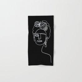 Frida Kahlo BW Hand & Bath Towel