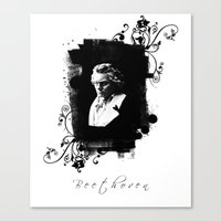beethoven Canvas Prints featuring Beethoven by viva la revolucion