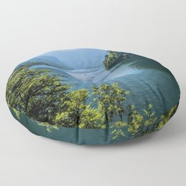 Germany, Malerblick,Koenigssee Lake III- Mountain Forest Europe Floor Pillow