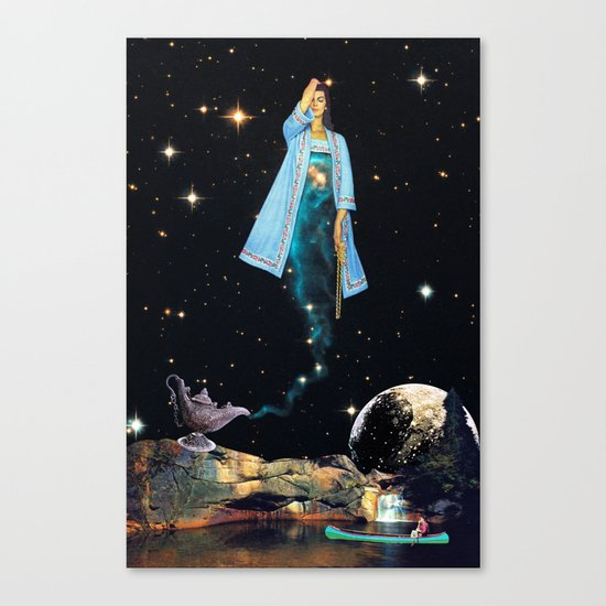 The Genie Canvas Print