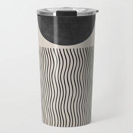 Minimal Woodblock  Travel Mug