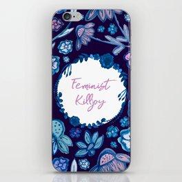 Feminist Killjoy - A Floral Pattern iPhone Skin