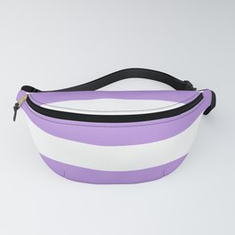 Stripes (Parallel Lines) - Purple White Fanny Pack