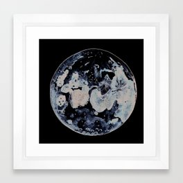 Watercolour Moon Framed Art Print