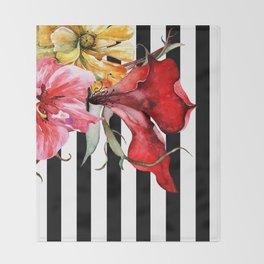 FLORA BOTANICA | stripes Throw Blanket