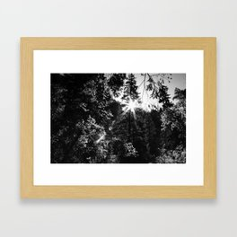 Mountainside Radiance Framed Art Print