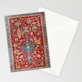 Turkey Hereke Old Century Authentic Colorful Royal Red Blue Blues Vintage Patterns Stationery Cards