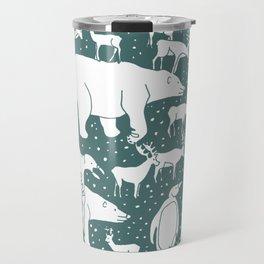 Polar gathering (emerald) Travel Mug