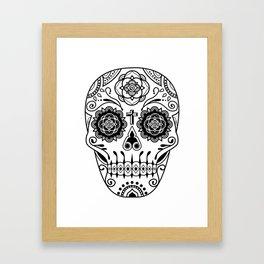 Deco Sugar Skull 2 Framed Art Print