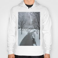pittsburgh Hoodies featuring PITTSBURGH PARK by Stephanie Bosworth