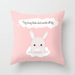 tiny bunny Throw Pillow