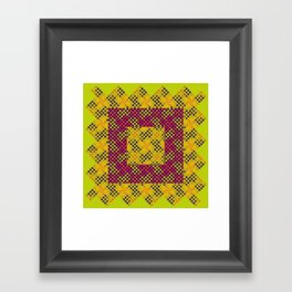 Dot Swatch Equivocated on Chartreuse Framed Art Print