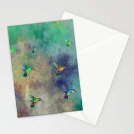 Secret Escape Hummingbird Design Stationery Cards