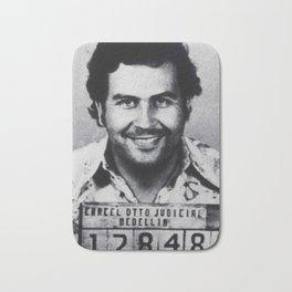 Pablo Escobar Mug Shot 1991 Vertical Bath Mat