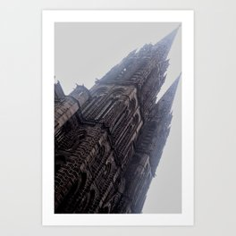 French City - Church at Clermont-Ferrand Art Print