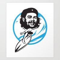 Ché surfing Art Print