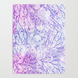 Gradient Floral Pattern 13 Poster