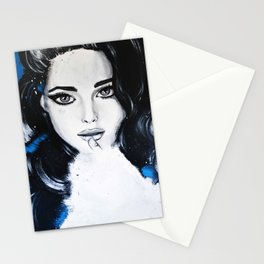 Miss M. in Blue  Stationery Cards