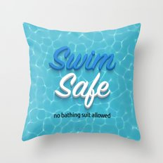 Swim Safe Throw Pillow