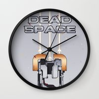 dead space Wall Clocks featuring Dead Space by Spiritius