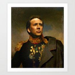 Nicolas Cage - replaceface Art Print
