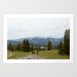 Hiking to Lake Irwin Art Print