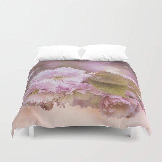 Cherryblossom LOVE - Sakura - Pink Flower Flowers on #Society6 Duvet Cover