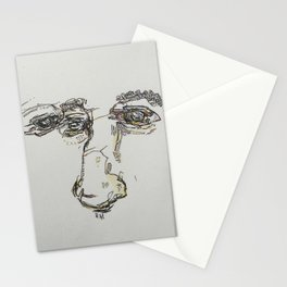Crossed lines of vision Stationery Cards