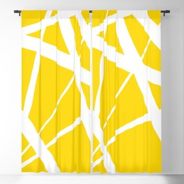 Sunshine Yellow w/ White Star Abstract Blackout Curtain
