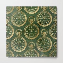 Instruments of Time Neck Gator Pocket Watch Green Vintage Timepieces Metal Print