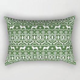 Akita dog breed fair isle christmas sweater pattern funny dog lover gifts Rectangular Pillow