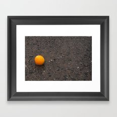 Beached Orange Framed Art Print