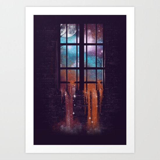 Let the Stars Flow Into You V.2 Art Print
