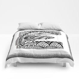 Zentangle E Monogram Alphabet Illustration Comforters