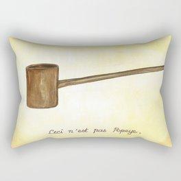 Ceci n'est pas Popeye Rectangular Pillow