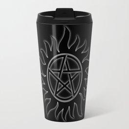 Anti Possesion Sigil White Glow Travel Mug