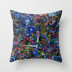 Village in the Sky Throw Pillow