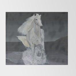White Horse Freedom Throw Blanket