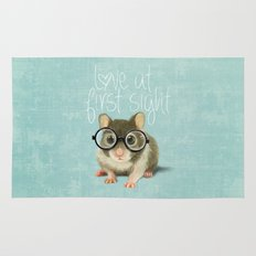 Little mouse in love Rug