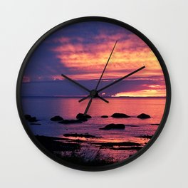 Sunset on the Mighty St-Lawrence Wall Clock