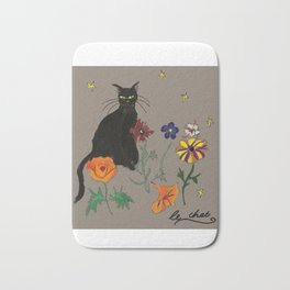 Black cat Le Chat Bath Mat