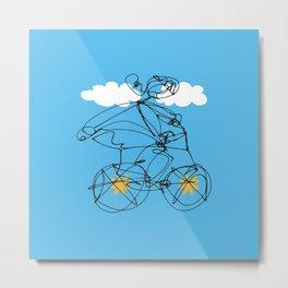 Free Spirit Biking Metal Print