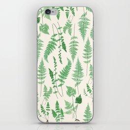 Ferns on Cream I - Botanical Print iPhone Skin