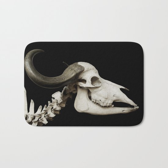 Cattle Skull 4 Bath Mat